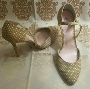 Madison polka dot heels